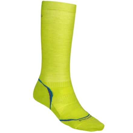 SmartWool PhD V2 Graduated Compression Socks - Merino Wool, Over the Calf (For Men and Women) in Green - 2nds
