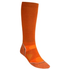 SmartWool PhD V2 Graduated Compression Socks - Merino Wool, Over the Calf (For Men and Women) in Orange - 2nds