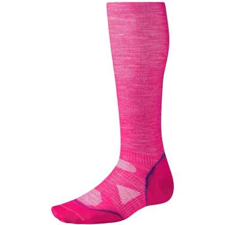 SmartWool PhD V2 Graduated Compression Socks - Merino Wool, Over the Calf (For Men and Women) in Punch - 2nds