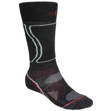 SmartWool PhD V2 Light Snowboard Socks - Merino Wool, Over the Calf (For Men and Women) in Black - 2nds