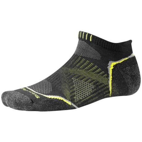 SmartWool PhD V2 Outdoor Light Micro Socks - Merino Wool, Below the Ankle (For Men and Women) in Black
