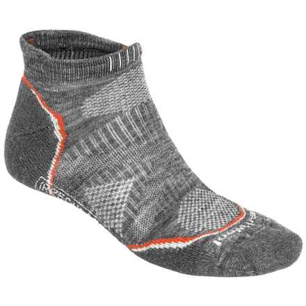 SmartWool PhD V2 Outdoor Light Micro Socks - Merino Wool, Below the Ankle (For Men and Women) in Medium Grey - 2nds