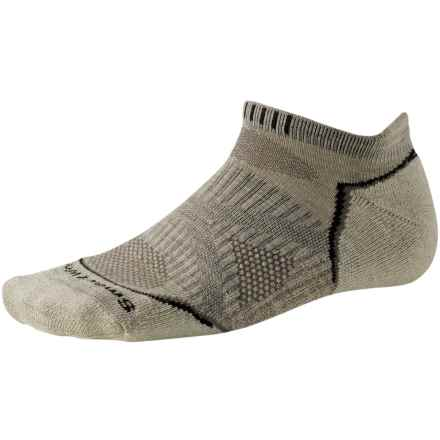 SmartWool PhD V2 Outdoor Light Micro Socks - Merino Wool, Below the Ankle (For Men and Women) in Oatmeal - 2nds