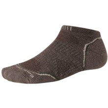 SmartWool PhD V2 Outdoor Light Micro Socks - Merino Wool, Below the Ankle (For Men and Women) in Taupe - 2nds