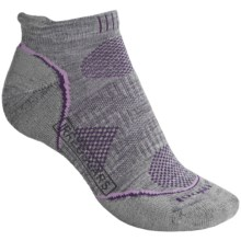 SmartWool PhD V2 Outdoor Light Micro Socks - Merino Wool, Below the Ankle (For Women) in Light Grey - 2nds