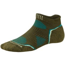 SmartWool PhD V2 Outdoor Light Micro Socks - Merino Wool, Below the Ankle (For Women) in Loden - 2nds