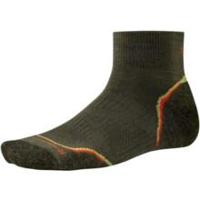 SmartWool PhD V2 Outdoor Light Mini Socks - Merino Wool, Quarter Crew (For Men and Women) in Loden/Bright Orange - 2nds