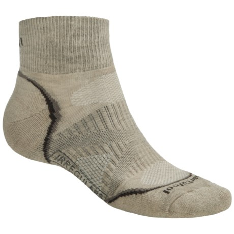 SmartWool PhD V2 Outdoor Light Mini Socks - Merino Wool, Quarter Crew (For Men and Women) in Oatmeal