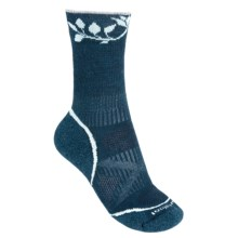 SmartWool PhD V2 Outdoor Light Pattern Socks - Merino Wool, Crew (For Women) in Deep Sea - 2nds