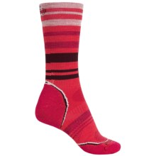SmartWool PhD V2 Outdoor Light Pattern Socks - Merino Wool, Crew (For Women) in Hibiscus - 2nds