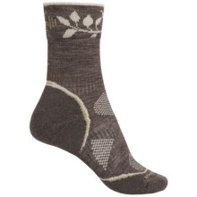 SmartWool PhD V2 Outdoor Light Pattern Socks - Merino Wool, Crew (For Women) in Taupe - 2nds
