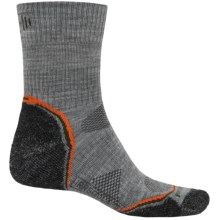 SmartWool PhD V2 Outdoor Light Socks - Merino Wool, 3/4 Crew (For Men) in Light Grey/Charcoal - 2nds