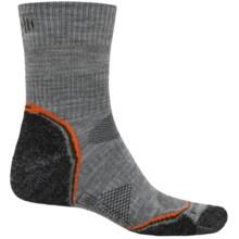 SmartWool PhD V2 Outdoor Light Socks - Merino Wool, 3/4 Crew (For Men) in Light Grey/Charcoal - 2nds