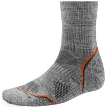 SmartWool PhD V2 Outdoor Light Socks - Merino Wool, 3/4 Crew (For Men) in Light Grey - 2nds