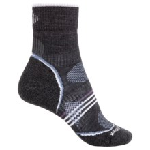 SmartWool PhD V2 Outdoor Light Socks - Merino Wool, 3/4 Crew (For Women) in Charcoal - 2nds