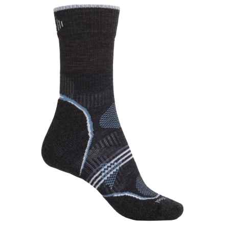 SmartWool PhD V2 Outdoor Light Socks - Merino Wool, 3/4 Crew (For Women) in Charcoal - Closeouts