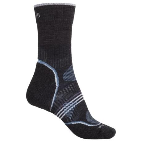 SmartWool PhD V2 Outdoor Light Socks - Merino Wool, 3/4 Crew (For Women) in Charcoal