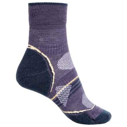 SmartWool PhD V2 Outdoor Light Socks - Merino Wool, 3/4 Crew (For Women) in Desert Purple - 2nds