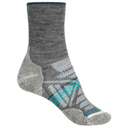 SmartWool PhD V2 Outdoor Light Socks - Merino Wool, 3/4 Crew (For Women) in Medium Gray - 2nds
