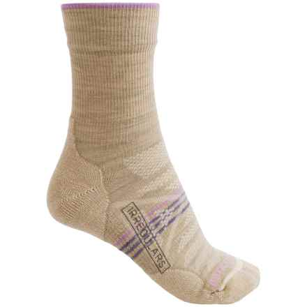 SmartWool PhD V2 Outdoor Light Socks - Merino Wool, 3/4 Crew (For Women) in Oatmeal Heather - 2nds