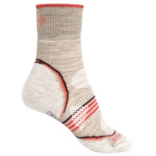 SmartWool PhD V2 Outdoor Light Socks - Merino Wool, 3/4 Crew (For Women) in Oatmeal - 2nds