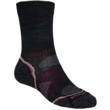 SmartWool PhD V2 Outdoor Light Socks - Merino Wool, Crew (For Men and Women) in Black/Red - 2nds