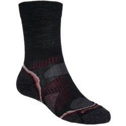 SmartWool PhD V2 Outdoor Light Socks - Merino Wool, Crew (For Men and Women) in Black/Red