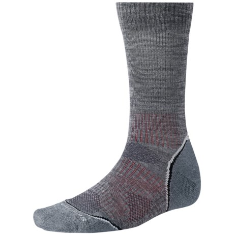 SmartWool PhD V2 Outdoor Light Socks - Merino Wool, Crew (For Men and Women) in Medium Grey