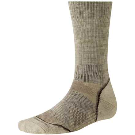 SmartWool PhD V2 Outdoor Light Socks - Merino Wool, Crew (For Men and Women) in Oatmeal - 2nds