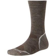 SmartWool PhD V2 Outdoor Light Socks - Merino Wool, Crew (For Men and Women) in Taupe - 2nds
