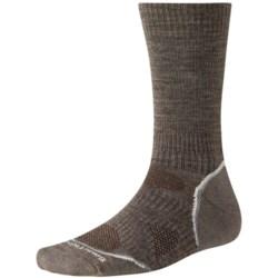 SmartWool PhD V2 Outdoor Light Socks - Merino Wool, Crew (For Men and Women) in Oatmeal