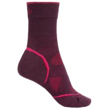 SmartWool PhD V2 Outdoor Light Socks - Merino Wool, Crew (For Women) in Aubergine - Closeouts