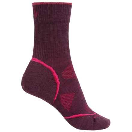 SmartWool PhD V2 Outdoor Light Socks - Merino Wool, Crew (For Women) in Aubergine - Closeouts