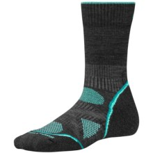 SmartWool PhD V2 Outdoor Light Socks - Merino Wool, Crew (For Women) in Charcoal - Closeouts