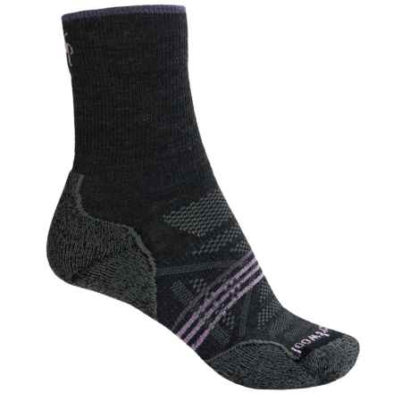 SmartWool PhD V2 Outdoor Light Socks - Merino Wool, Crew (For Women) in Charcoal - 2nds