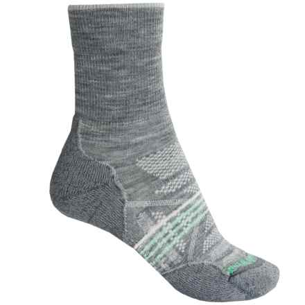SmartWool PhD V2 Outdoor Light Socks - Merino Wool, Crew (For Women) in Light Gray - 2nds