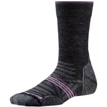 SmartWool PhD V2 Outdoor Light Socks - Merino Wool, Crew (For Women) in Medium Gray/Desert Purple - Closeouts
