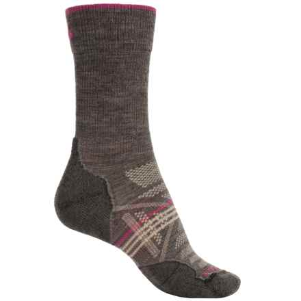 SmartWool PhD V2 Outdoor Light Socks - Merino Wool, Crew (For Women) in Taupe - 2nds