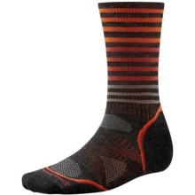 SmartWool PhD V2 Outdoor Pattern Socks - Merino Wool, Crew (For Men and Women) in Charcoal - 2nds
