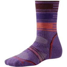 SmartWool PhD V2 Outdoor Pattern Socks - Merino Wool, Crew (For Women) in Desert Purple - 2nds