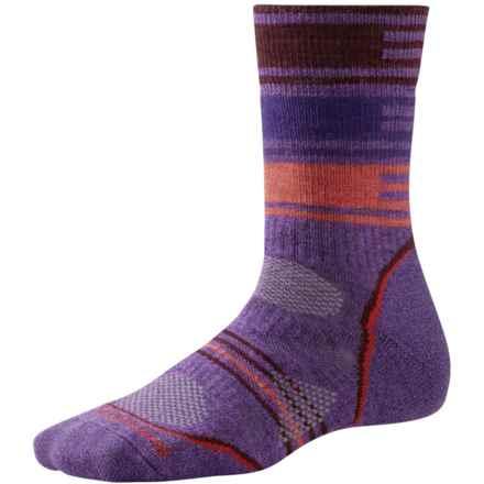 SmartWool PhD V2 Outdoor Pattern Socks - Merino Wool, Crew (For Women) in Desert Purple - 2nds