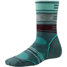 SmartWool PhD V2 Outdoor Pattern Socks - Merino Wool, Crew (For Women) in Sea Pine - 2nds