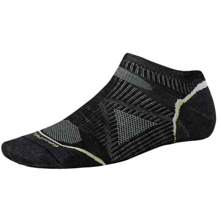 SmartWool PhD V2 Outdoor Ultralight Micro Socks - Merino Wool, Below the Ankle (For Men and Women) in Black - 2nds