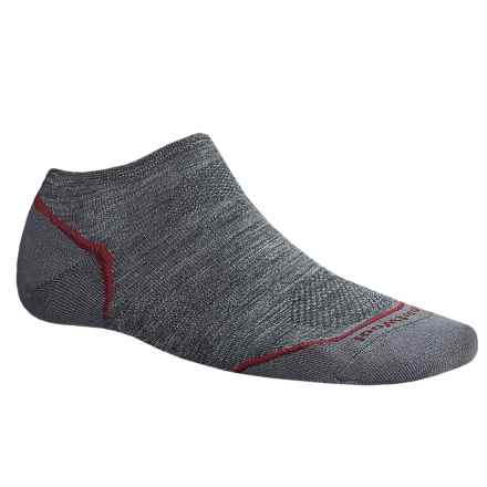 SmartWool PhD V2 Outdoor Ultralight Micro Socks - Merino Wool, Below the Ankle (For Men and Women) in Medium Grey - 2nds