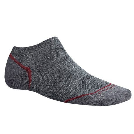 SmartWool PhD V2 Outdoor Ultralight Micro Socks - Merino Wool, Below the Ankle (For Men and Women) in Medium Grey