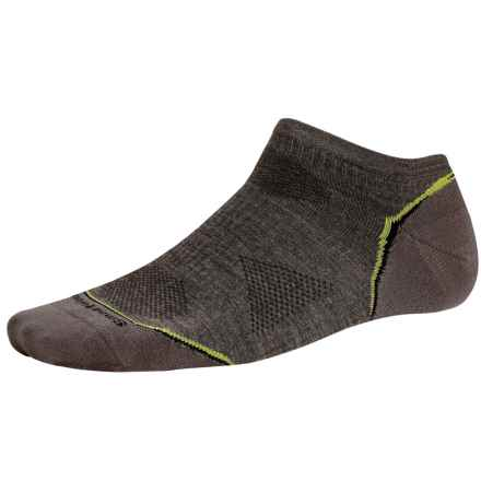 SmartWool PhD V2 Outdoor Ultralight Micro Socks - Merino Wool, Below the Ankle (For Men and Women) in Taupe - 2nds