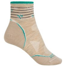 SmartWool PhD V2 Outdoor Ultralight Pattern Mini Socks - Merino Wool Blend, Ankle (For Women) in Oatmeal/Canton - 2nds