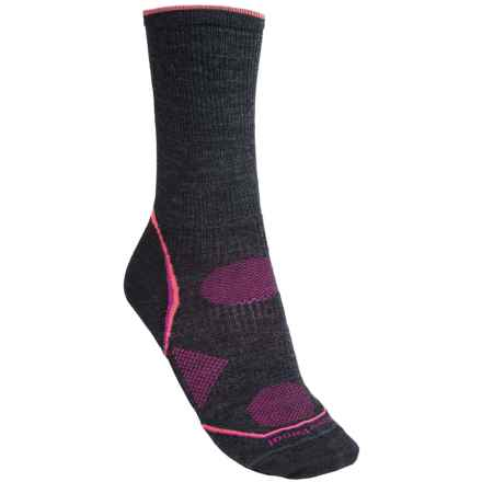 SmartWool PhD V2 Outdoor Ultralight Socks - Merino Wool, Crew (For Women) in Charcoal - 2nds
