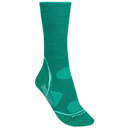 SmartWool PhD V2 Outdoor Ultralight Socks - Merino Wool, Crew (For Women) in Dark Sprearmint - 2nds
