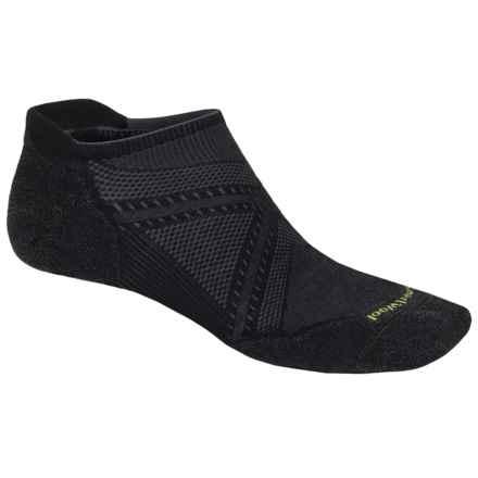 SmartWool PhD V2 Run Elite Socks - Merino Wool, Below-the-Ankle (For Men and Women) in Black - 2nds